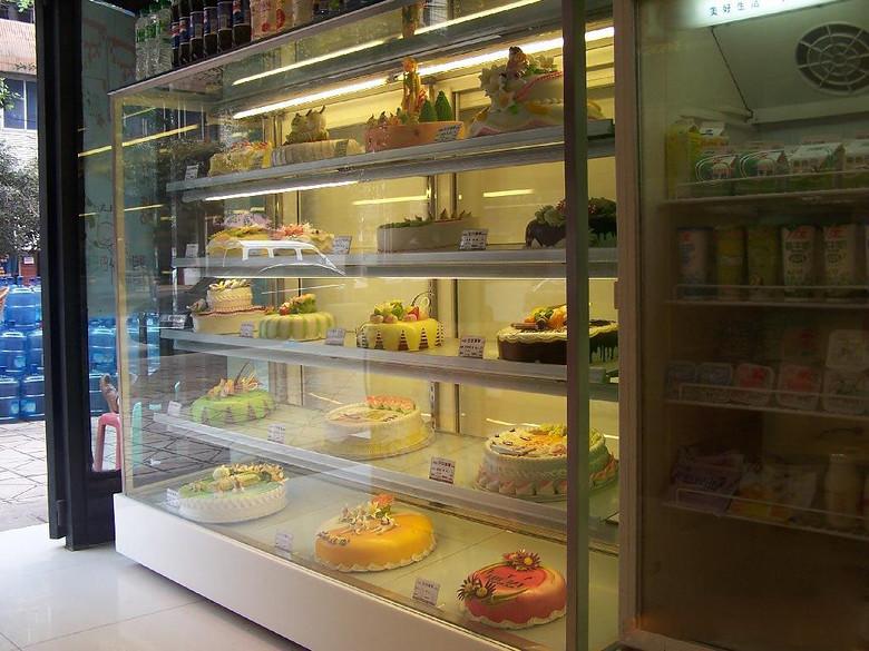 直销广州安德利立式后开门蛋糕柜 蛋糕柜设计 美观大方