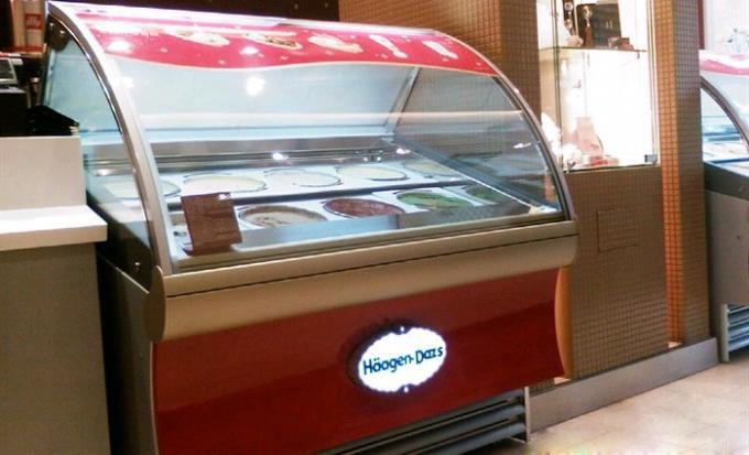 订制各规格圆桶冰淇淋柜