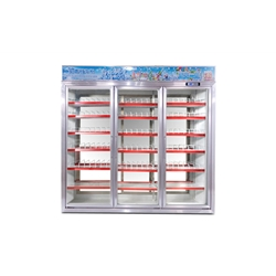 BQH- 3 Sections Double-sided Display Supermarket Merchandising Cooler