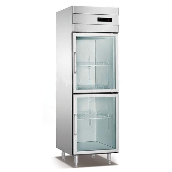1 Section Glass Door Reach In Refrigeratorfreezer