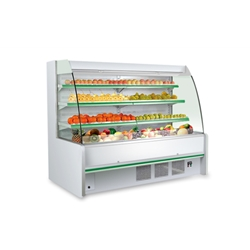 Supermarket Curved Opened Air Refrigerated Merchandiser