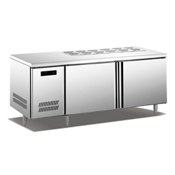 QE Stainless Steel Undercounter Salad Bar